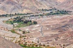 Ajardine antes de alcançar a cidade de Pachica no DES de Atacama Imagens de Stock Royalty Free