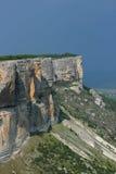 Ajardine antes de um temporal no cume das montanhas crimeanas Fotos de Stock Royalty Free