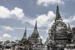 Ajardine, Ayutthaya tres sitios históricos de las pagodas de Tailandia 2017 imágenes de archivo libres de regalías