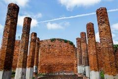 Ajardine, Ayutthaya tres sitios históricos de las pagodas de Tailandia 2017 foto de archivo libre de regalías