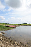 Ajardine Bouchemaine, pointe do La, perto irrita, Maine e Loire (França) Imagem de Stock Royalty Free