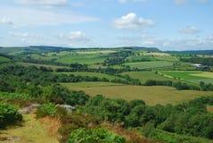 Ajardine cerca del castillo y del pueblo, Northumberland de Edlingham imagen de archivo libre de regalías
