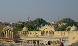 Ajardine a cidade de Jaipur na Índia a vista superior Imagens de Stock