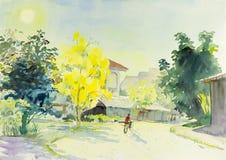 Ajardine colorido original del árbol de oro y de la emoción de la flor Fotografía de archivo libre de regalías