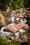 Ajardine com angra do vale de Nuria na Espanha Fotografia de Stock