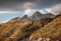 Ajardine com as montanhas no parque nacional Durmitor, Monteneg Fotos de Stock Royalty Free