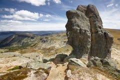 Ajardine com as rochas da formação em Picos de Urbion Soria, Espanha Foto de Stock Royalty Free