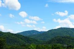 Ajardine com campo de grama verde e o céu azul Imagem de Stock Royalty Free
