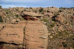 Ajardine com formações de rocha estranhas em Peracence, Espanha Imagem de Stock