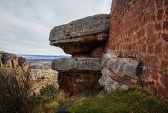 Ajardine com formações de rocha estranhas em Peracence, Espanha Imagens de Stock Royalty Free