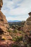 Ajardine com formações de rocha estranhas em Peracence, Espanha Foto de Stock Royalty Free