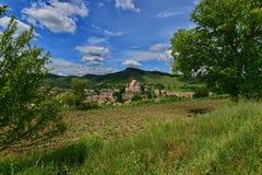 Ajardine com a igreja fortificada saxão de Biertan, Romênia Foto de Stock Royalty Free