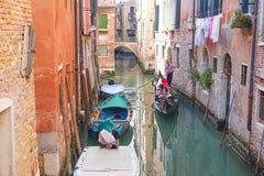 Ajardine com a imagem do canal em Veneza Imagens de Stock Royalty Free