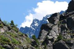Ajardine com montanhas, Rússia, Gorny Altai Fotos de Stock Royalty Free