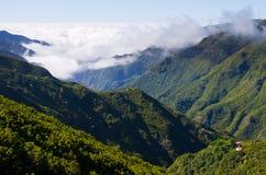 Ajardine com nuvens de rastejamento, Madeira, Portugal Fotos de Stock