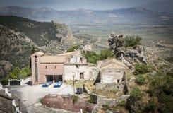 Ajardine com o eremitério do ³ n de San Antà em Moclin, Granada Fotos de Stock Royalty Free
