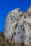 Ajardine com o parque nacional Buila de montanhas rochosas, Carpathians Fotos de Stock
