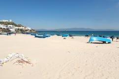 Ajardine com o Sandy Beach de Tânger, Marrocos, África Fotos de Stock Royalty Free