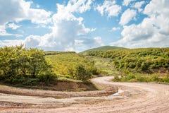 Ajardine com a trilha de carro nas montanhas, Turquia Fotos de Stock Royalty Free