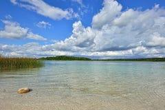 Ajardine com um lago com parte inferior transparente da argila perto de St Pete Fotografia de Stock Royalty Free