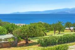 Ajardine com um parque no fundo do mar Foto de Stock Royalty Free