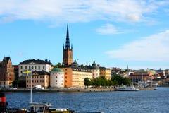 Ajardine da câmara municipal de Éstocolmo no verão, Suécia Foto de Stock Royalty Free
