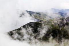 Ajardine das montanhas de Bucegi, parte de Carpathians do sul Fotos de Stock