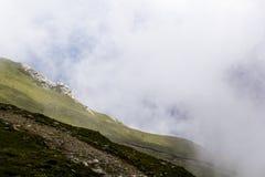 Ajardine das montanhas de Bucegi, parte de Carpathians do sul em Romênia Imagens de Stock