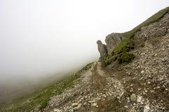 Ajardine das montanhas de Bucegi, parte de Carpathians do sul em Romênia Foto de Stock Royalty Free