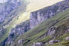 Ajardine das montanhas de Bucegi, parte de Carpathians do sul em Romênia Fotografia de Stock Royalty Free