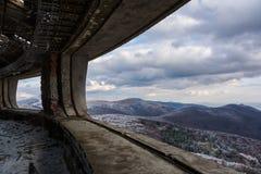 Ajardine de Buzludzha - a construção búlgara de partido comunista abandonado Fotos de Stock Royalty Free