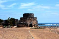 Ajardine de Fuerteventura, praia de Caleta de Fuste Ilhas Canárias spain Fotografia de Stock Royalty Free