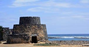 Ajardine de Fuerteventura, praia de Caleta de Fuste Ilhas Canárias spain Imagens de Stock Royalty Free
