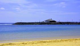 Ajardine de Fuerteventura, praia de Caleta de Fuste Ilhas Canárias spain Fotografia de Stock