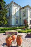 Ajardine decorações nas ruas do Veliko velho Tarnovo Fotografia de Stock Royalty Free