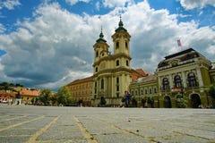 Ajardine do centro medieval de Eger, Hungria foto de stock