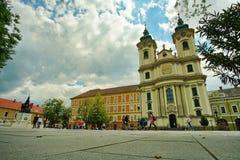 Ajardine do centro medieval de Eger, Hungria 2 imagens de stock royalty free