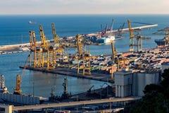 Ajardine do porto da cidade Barcelona na Espanha Fotos de Stock Royalty Free