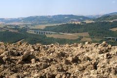 Ajardine em Basilicata (Italy) no verão Imagem de Stock