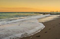 Ajardine em máscaras pasteis da costa bonita do recurso do Mar Negro Fotografia de Stock