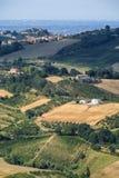 Ajardine em Romagna no verão do al Rubicone de Sogliano Imagem de Stock