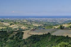 Ajardine em Romagna no verão do al Rubicone de Sogliano Imagem de Stock Royalty Free