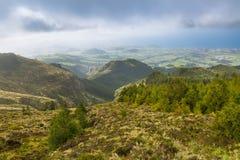 Ajardine em torno da cratera do Pico a Fogo na ilha de Foto de Stock