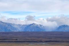 Ajardine em torno da montagem John Observatory perto do lago Tekapo, Nova Zelândia Imagem de Stock