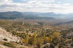 Ajardine em torno das ruínas da cidade antiga Sagalassos Imagem de Stock Royalty Free