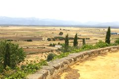Ajardine em torno de Oropesa, mancha do La do Castile, Espanha Fotos de Stock