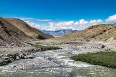 Ajardine em torno do distrito de Leh em Ladakh, Índia Fotografia de Stock