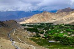 Ajardine em torno do distrito de Leh em Ladakh, Índia Imagem de Stock