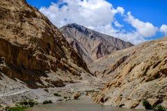 Ajardine em torno do distrito de Leh em Ladakh, Índia Fotos de Stock