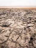 Ajardine em torno do lago Dallol na depressão de Danakil, Ehtiopia Fotografia de Stock
